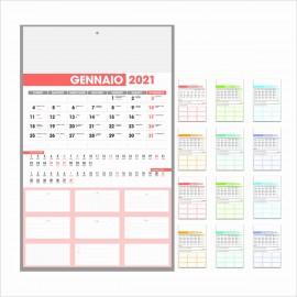 Calendario Olandese Organizer Formato 28.8x47 Cm