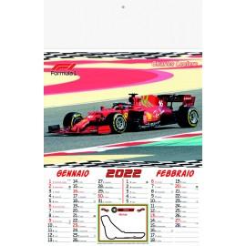 Calendario Motori Formato 28.8x47 Cm